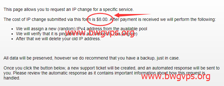 搬瓦工 VPS 被墙后购买新的 IP 价格调整为 2.82 美元