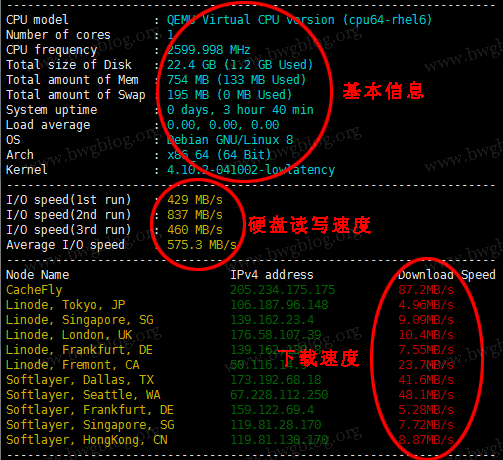 Linux 下 Bench.sh 服务器性能测试脚本